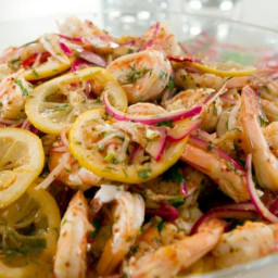 Pickled Shrimp with Lemon Chive Aioli