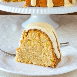 Pina Colada Pineapple Pound Cake with Rum & Butter Glaze