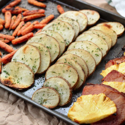 Pineapple Ham Sheet Pan Dinner: Paleo, Whole30 and Easy!