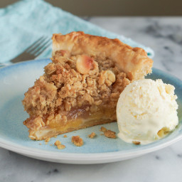 Pineapple Macadamia Crumb Pie