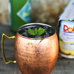 Pineapple Mule Cocktail and Mocktail