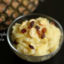 pineapple sheera recipe | pineapple kesaribath recipe