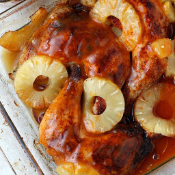 Pineapple Sriracha Glazed Chicken Quarters