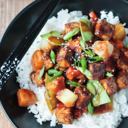 Pineapple Stir Fry w/ Baked Tofu