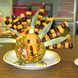 Pineapple Turkey Centerpiece Appetizer