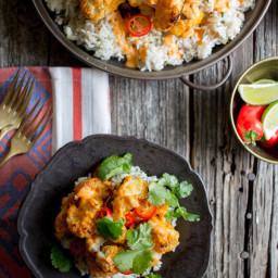 Piri-Piri Cauliflower with Toasted Coconut Rice