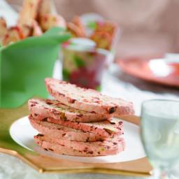 Pistachio and apricot biscotti