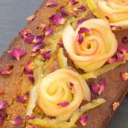 Pistachio and Rose Madeira Cake