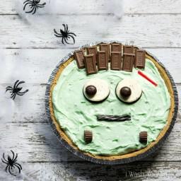 Pistachio Cream Frankenstein Pie
