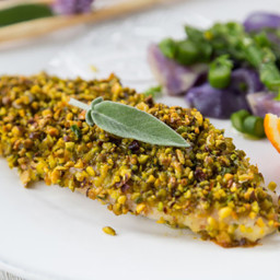 Pistachio Crusted Baked White Fish Fillet