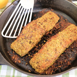 Pistachio Crusted Coriander Salmon