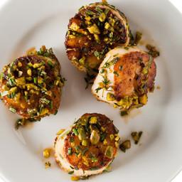 Pistachio-Crusted Scallops