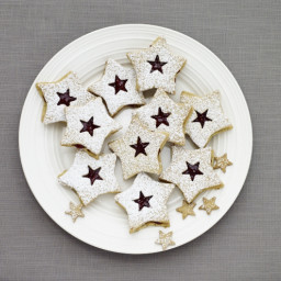 Pistachio Stars Linzer Cookies Recipe