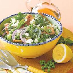 Pita Bread and Pea Salad