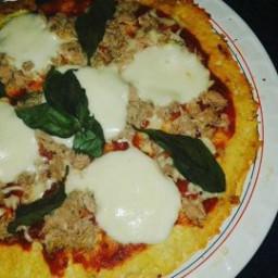 Pizza Atum e Mozarela de Búfala com base de Couve-Flor