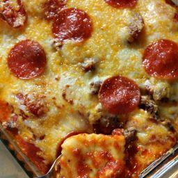 Pizza Casserole With Ravioli