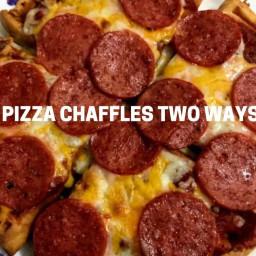 Pizza Chaffle Crisps
