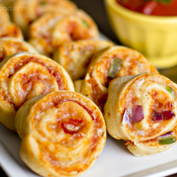 Pizza Pinwheels with Homemade Pizza Sauce