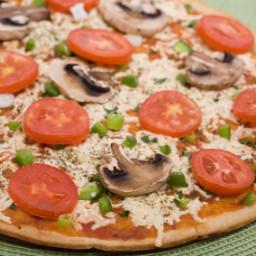 Pizza with Arugula and Turkey Bacon - BLR