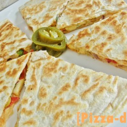 Pizzadilla = quesadilla de pizza