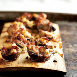 Planked Figs with Pancetta and Goat Cheese