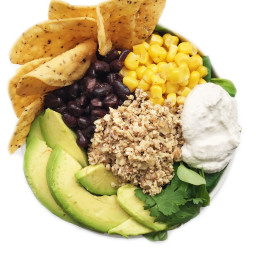Plant Based Taco Salad with Walnut Meat and Cashew Sour Cream