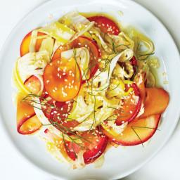 Plum-Fennel Salad with Honey-Ginger Dressing