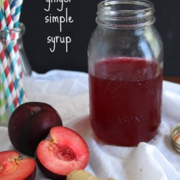 Plum Ginger Simple Syrup