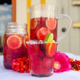 Plum-Hibiscus Margarita