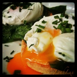 Poached Eggs with Greens