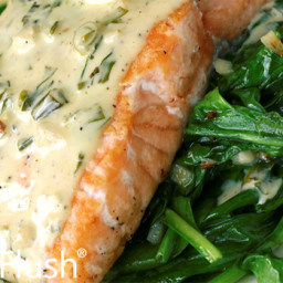 Poached Salmon with Fresh Herbed Mayonnaise