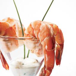 Poached Shrimp with Lemon-Horseradish Dipping Sauce