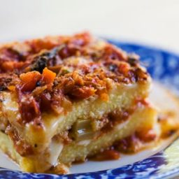 Polenta Casserole with Fontina and Tomato Sauce