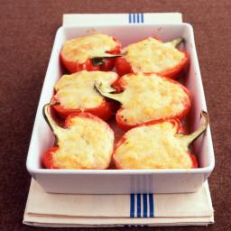 Polenta-Stuffed Peppers