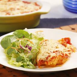 Polenta with Mozzarella Cheese & Tomato Sauce