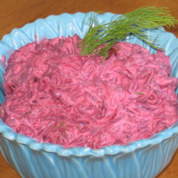 Polish Beets With Sour Cream Is a Cold Side Dish With Brilliant Color