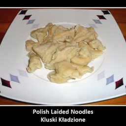 Polish laid noodles/dumplings (Kluski kladzione)
