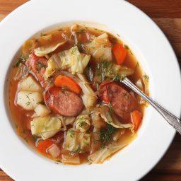 Polish Potato, Kielbasa, and Cabbage Soup (Kapusniak)