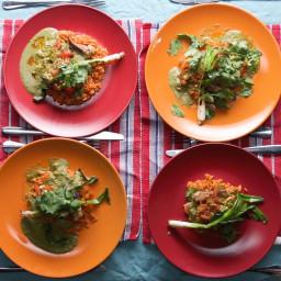 Pollo Ciudad With Cilantro Sauce And Pickled Tomato Salsa Recipe by Tasty