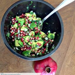 Pomegranate Avocado Salad