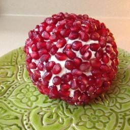 Pomegranate Jeweled Cheeseball