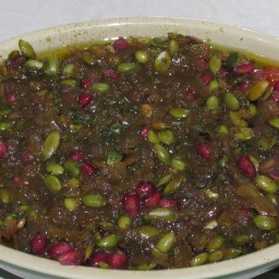 Pomegranate-Mint Agrodolce