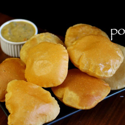 poori recipe   how to make puffy puri   milk poori recipe