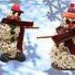 Popcorn Snowmen
