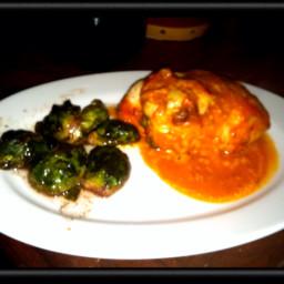 Popeyes Spinach Chicken Dinner