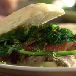 Pork and Broccoli Rabe Ciabatta Subs