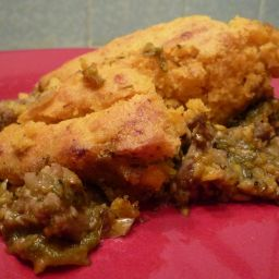 Pork and Poblano Tamale Pie