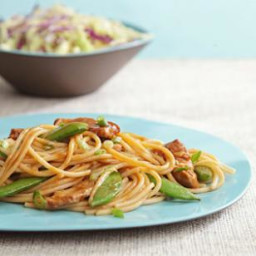 Pork and Snap Pea Lo Mein