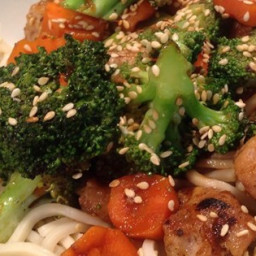 Pork, Apple, and Ginger Stir-Fry with Hoisin Sauce