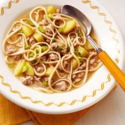 Pork, Apple and Miso Noodle Soup